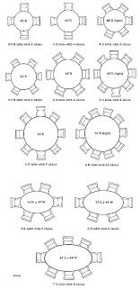 standard round table size dining table measurements 8 person round table measurements how big is an