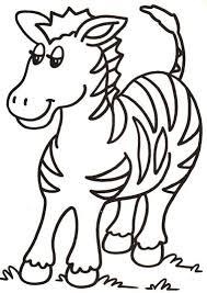 Disegni Per Bambini Da Colorare La Zebra