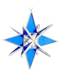 stained glass ornament dark blue cathedral stained glass star stained glass tree ornament patterns