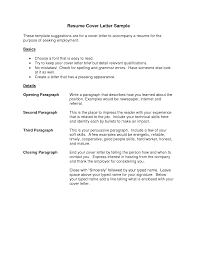 31 Example Resume Cover Letter Template Basic Sample Resume Cover