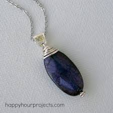 wire wrapped pendant tutorial for beginners at happyhourprojects com