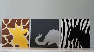 jungle nursery wall art jungle nursery decor safari animals giraffe elephant zebra canvas painting on etsy 55 00 on safari themed nursery wall art with jungle nursery decor safari nursery decor safari animals giraffe