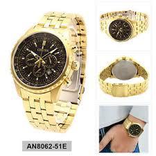 mens citizen gold watch citizen analog casual watch chrono gold mens an8062 51e