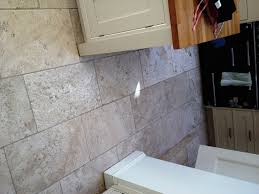 Travertine Tile For Kitchen Deep Cleaning Dirty Tumbled Travertine Kitchen Tiles In Teddington