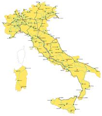 Train Routes In Italy Italiarail