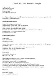 Sample Resume Driver Job
