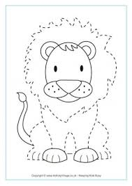 Kindergarteners preschoolers first graders can use these uppercase tracing line worksheets. Animal Tracing Pages