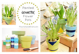 Different Designs Of Flower Pots Painted Geometric Diy Flower Pots There For The Making