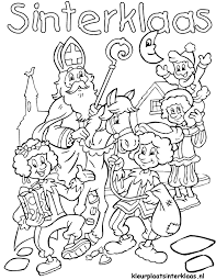 20 Beste Sinterklaas Kleurplaat Printen Win Charles