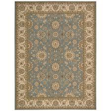 nourison persian crown suret blue 9 ft x 13 ft area rug 178404 the home depot