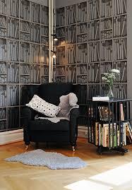 Fake Book Wallpaper Fake Bookshelf Wallpaper Idesignarch Interior Design .  Prepossessing Design Decoration