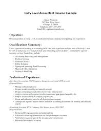 entry level resumes no experience sample entry level accounting resume no experience examples of