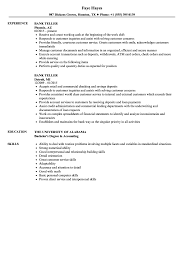 Resume For Bank Jobs Bank Teller Resume Samples Velvet Jobs 10