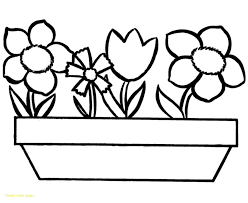 flower color pages with spring flowers coloring for kids at