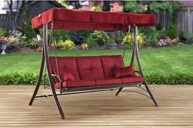 outdoor daybed swing canopy red deck porch patio pool 3 seats garden outdoor daybed swing wooden