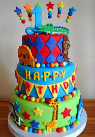 9 1st Birthday Cakes For Boys In Zoo Photo Zoo Animal Birthday