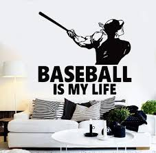 Amazoncom Sports Decals Wall Art Decor Personilized Baseball