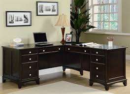 l shaped workstation with hutch l shaped computer desk in home office