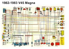 1st gen honda magna and sabre articles 82 83 v45 magna color schematic