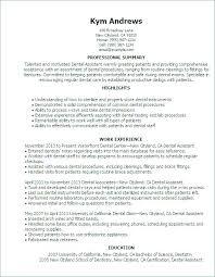 Resume Format For Dentist Orthodontist Resume Resume Template Dental