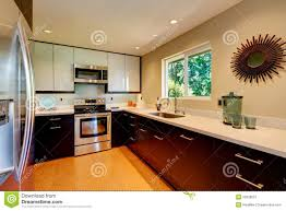 Kitchens With White Countertops Modern Kitchen With White Countertops White And Brown New