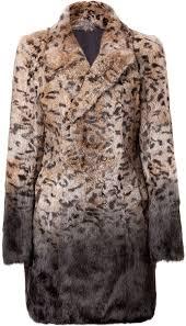 each other leopard print rabbit fur coat