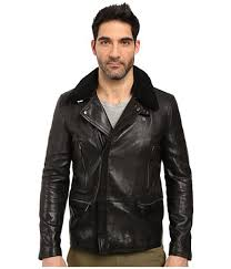 handmade leather jackets black black 2017 coach for men motorcycle long moto with shearling collar extraordinary