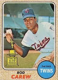 Size Of A Baseball Card Baseball Cards Carew 1968 1968 Set Name 1968 Topps Card