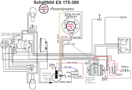 powerdynamo for mz es ets 175 300 assembly instructions · wiring diagram · wiring diagram of a es 175 300 the system