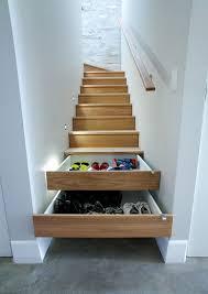 Hidden storage under the stairs.