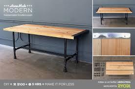 homemade modern diy pipe coffee table postcard black iron pipe table