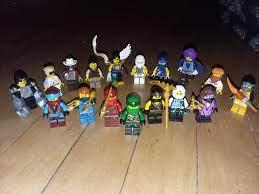 A selection of elemental masters. Lloyd, kai, cole, zane, jay, nya, pixal,  karloff, skylor, turner, bolobo, mr. Pale, gravis, neuro, nelson, chamille,  and teen wu. Missing a few but idrc. : Ninjago
