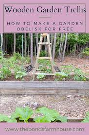 how to build a garden trellis from wood