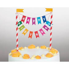 Happy Birthday Bunting Cake Topper Build A Birthday