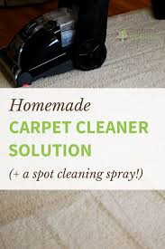carpet cleaning solution. tackle stubborn carpet stains with this non-toxic homemade cleaner solution for your machine cleaning