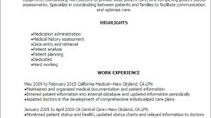 Examples Of Lpn Resumes 1 Lpn Resume Templates Try Them Now Myperfectresume