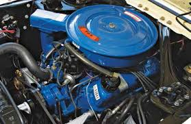 "techtips ford small block general data and specifications for 1968 ford went to a pent roof ""power by ford"" valvecover as well as a redesigned air cleaner assembly for 289 302 engines all closed crankcase"