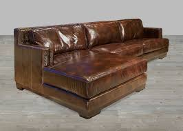 dark brown leather sectional sofa with chaise lounge