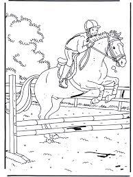 Springen Kleurplaten Paarden