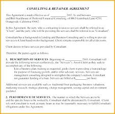 retainer consulting agreement consulting fee agreement template broker carrier agreement