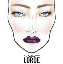 i love how they ve drawn the face chart to look like lorde it looks regal indeed below the m a c face chart of lorde s cur us tour look designed by