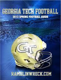 2012 Georgia Tech Football Spring Guide By Gtathletics Issuu