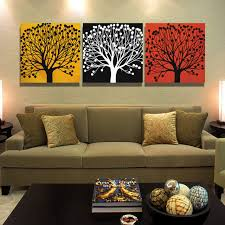 3 piece canvas tree painting calligraphy abstract wall art picture landscape canvas painting for living room