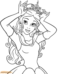 Small Picture 79 best Disney Belle images on Pinterest Disney coloring pages