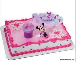 Minnie Mouse Cake Topper Decoration Supplies Birthday Its A Girl