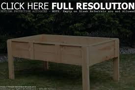 raised garden plans beds home outdoor decoration legs planters