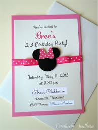 Home Made Birthday Invitations Homemade Minnie Mouse Invitations