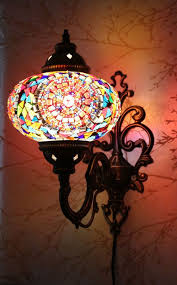 turkish style lighting. multicolour turkish moroccan style mosaic wall sconce light large gelobe lighting h