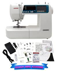 Details About Janome 4120qdc B Computerized Quilting And Sewing Machine W Bonus Quilt Kit