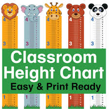 Height Chart For Kids Printable Classroom Height Chart